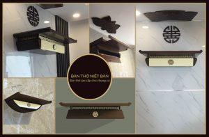 Các mẫu bàn thờ treo tường đẹp tại Bàn Thờ Niết Bàn
