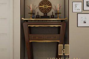 bàn thờ đứng cỡ nhỏ phù hợp chung cư